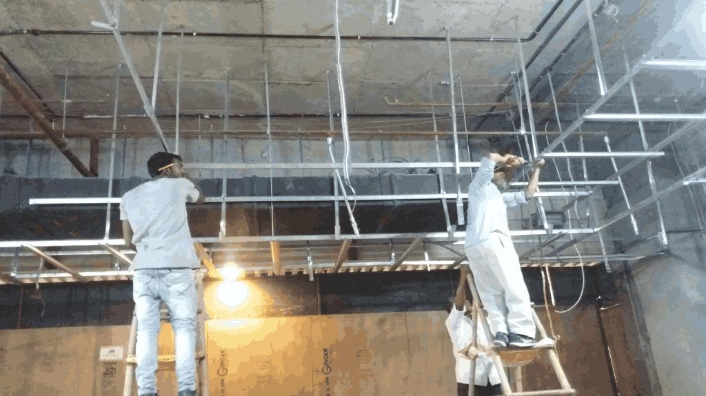 gypsum-false-ceiling-framing-work